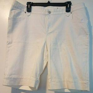 24 Lane Bryant White Denim Shorts - Jean Shorts